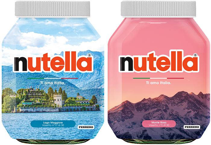 Nutella ama l'Italia